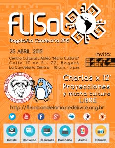 AficheFLISOL2015LaCandelaria1